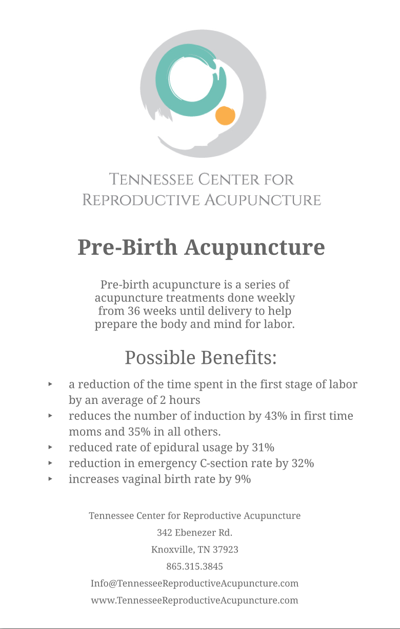 PreBirth Acupuncture Info DOuble