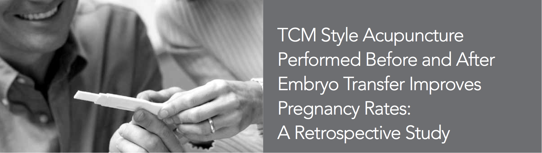 Acupuncture done before and after embryo transfer increases pregnancy rates up to 57%.